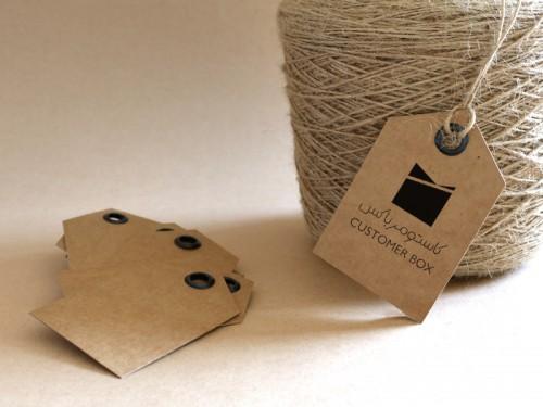 تگ (اتیکت) محصول - تگهای کاستومرباکس روشی برای برندسازی آسان هدایا و بستهها