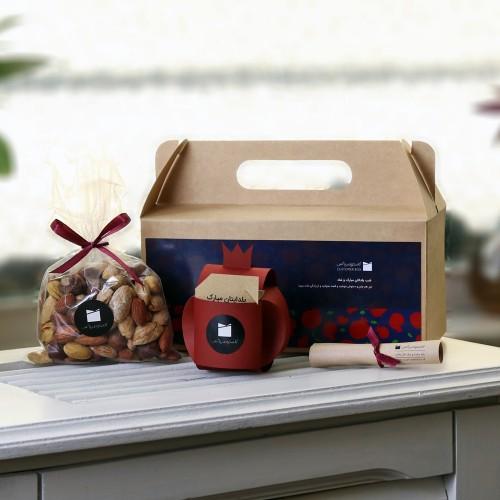جعبه خوشمزه یلدا - بستهای برای بهترین شکل ارائه آجیل و سایر خوراکیها